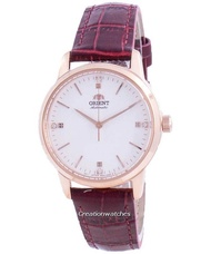 Orient Contemporary Automatic Women's Red Leather Strap Watch RA-NB0105S10B