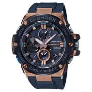 CASIO G-SHOCK GST-B100G-2A BLUETOOTH藍牙雙顯電子錶(黑X古銅金)