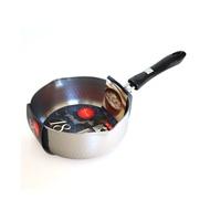 【日本珍珠金屬】日製IH不鏽鋼槌目雙口雪平鍋-18cm