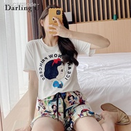 【pajamas】  Darling U pajama terno for women Sleepwear cute cotton night wear for adult