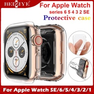 New case TPU Screen Protective for apple watch 6 SE 5 4 3 2 1 40mm 44mm 38mm 42mm Screen protector case silicone soft Clear Cover For Apple watch series 6 5 4 3 2 1 SE Smart Watch Acceccories