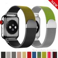 ใหม่สีสายใส่ข้อมือสำหรับสายคาดApple Watch 38มม.40มม.สายคาดApple Watch 42มม.44มม.สร้อยข้อมือเหล็กสำหรับAppleนาฬิกา6 SE 5 4 3 2 1