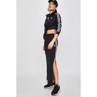 Adidas Original 愛迪達 黑白 三條 開衩長裙