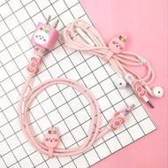 iPhone 充電頭貼紙/充電線彈簧繩DIY/充電線保護套-三合一