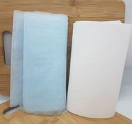 防疫必囤貨商品  口罩中層 熔噴不織布疏散水份透氣層加靜電層 雙重防護  輕鬆吃