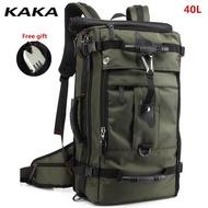 กระเป๋าเป้สะพายหลังเดินป่าสำหรับผู้ชาย กระเป๋าเดินทางวัสดุกันน้ำ กระเป๋าจุของได้เยอะ 50L