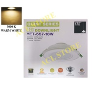 YET 557 18W 6 INCH LED DOWNLIGHT ROUND (DAYLIGHT / COOL WHITE / WARM WHITE / 3 COLOURS)