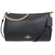 【COACH】黑色3 WAY鏈袋晚宴側肩斜背包