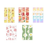 Cute for Apple Pencil Stickers Scratchproof Ultra Thin Stickers Flower Series Press Stylus Non-Slip Protective Paper-3