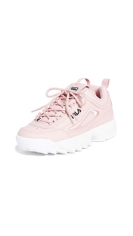 Fila Womens Disruptor II 3D Embroider Fabric Low Top Lace Up Walking Shoes