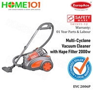 EuropAce Multi Cyclone Vacuum Cleaner With HEPA Filter EVC 2006