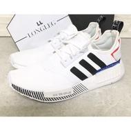 【正版】Adidas NMD R1 全白 白 藍 紅 日文 針織 慢跑鞋 休閒 男女 情侶 EF0753