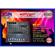Konzert MX-8+ 8Channel PRO Mixer