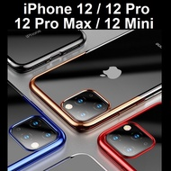 iPhone 12 / 12 Pro / 12 Pro Max / 12 Mini Shell Plated Clear Phone Case Casing Cover