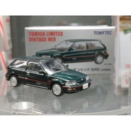 Tomytec TLV 1/64 模型車 LVN182a Honda Civic SiR II 墨綠 89年式