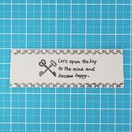 棉布標簽帶子2.5cm約寬1碼(19個標簽)sgy-424-D(供手工藝使用的零件一點布標簽手工藝素材零件手傭人標簽帶子副材料natural collection handmade手傭人) zakka-hana87