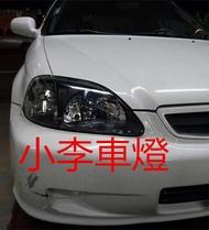 ~小李車燈~全新 外銷 喜美 CIVIC K8 96 00年 改裝型燻黑大燈組 一組1800元 台灣製品