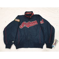 MLB Majestic Cleveland Indians 大聯盟 克里夫蘭 印地安人隊 球員版 實戰 棒球 外套