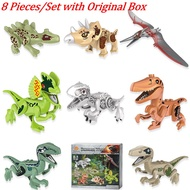 8 Pcs/Set Lego Dinosaur World Jurassic Tyrannosaurus Park Raptor Minifigures