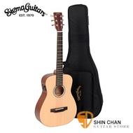 Sigma 木吉他▻ Sigma TM-12E 可插電小吉他/baby吉他/旅行吉他 34吋(TM12E雲杉面單板+Fishman拾音器) 附Sigma吉他袋【源自Martin製琴工藝】