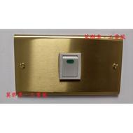 [ 莫那享 ] 工業風 銅製 復古 黃銅 螢光 單開(牙白色) F-098