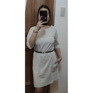 WHITE 3/4 DRESS - CASUAL DRESS