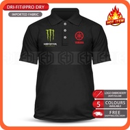 Polo T Shirt Dry Fit Yamaha Monster MotoGP Motorcycle Motosikal 125Z LC135 RXZ T