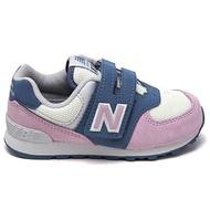 Shoestw【IV574JHG】NEW BALANCE NB574 運動鞋 黏帶 小童鞋 Wide 粉紫霧藍白