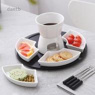 Chocolate fondue Haagen-Dazs ice cream fondue cheese rotating tray ceramic platter set plate tableware set