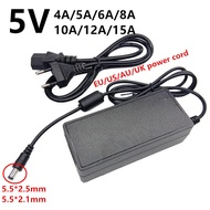 5 V 5โวลต์ Universal AC To DC Led Power Adapter 220V 5 V 5 V 4A 5A 6A 8A 10A 12A 15A Ac-Dc Adaptador อะแดปเตอร์ Switching