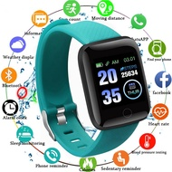 Eleportique 【 instock 】 116 PLUS ติดตามการออกกำลังกายนาฬิกาสีหน้าจอติดตามสุขภาพการออกกำลังกายสมาร์ทสายรัดข้อมือแสดงกิจกรรมติดตามนาฬิกาข้อมือ pedometer smartwatch นาฬิกาสำหรับผู้หญิงผู้ชาย