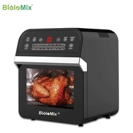BioloMix Large Capacity Air Fryer Oven Toaster Rotisserie and Dehydrator With LED Digital Touchscreen, Multifunction Countertop Oven