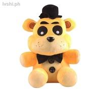 ✓❏❆FNAF Sanshee Plushie Five Nights at Freddy's Stuffed Toys Plush Golden Bear Kids Toy