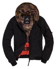 跩狗嚴選 特價代購 極度乾燥 Superdry 英雄 黑色 迷彩 飛行夾克 假兩件式 連帽外套 風衣 MA1