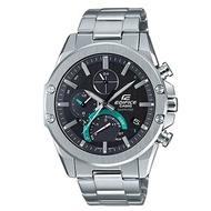 EDIFICE 科技時尚感藍芽連線太陽能不鏽鋼腕錶-(EQB-1000D-1A)