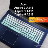 Good thing&Acer Keyboard Cover Acer Aspire 3 A315 Aspire 1 A115 Aspire 5 A515 3P50 ryzen 3 Soft Silicone fit 15.6'' Laptop Keyboard Protector Acer