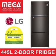 LG GT-D4417BL 445L 2-DOOR FRIDGE (2 TICKS) + $50 GROCERY VOUCHER BY AGENT