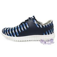 Jimmy PoLo 男款幾何編織運動慢跑鞋 [02101] 藍 MIT台灣製造【巷子屋】