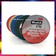 3M Scotch 1710 Vinyl Electrical Tape/ PVC Tape/ Insulation Tape/ Wire Tape Made in Taiwan (Black/Blue/Green/Red/Yellow)
