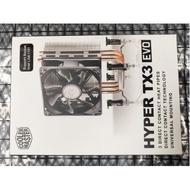【全新盒裝】酷碼 Hyper TX3 EVO 3根熱導管 高13.6 直扣式 95W CPU 風扇  CPU 散熱器