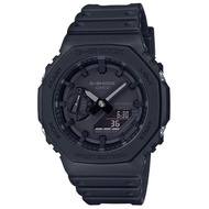 【CASIO】 G-SHOCK 農家橡樹八角雙顯錶-黑 (GA-2100-1A1) 正品公司貨