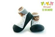 韓國【Attipas】快樂腳襪型學步鞋-黑底獅子【淘氣寶寶】