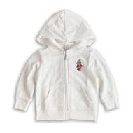 美國百分百【Ralph Lauren】嬰兒 童裝 棉質連帽外套 polo bear RL小熊 女寶男寶 9M 現貨 白色