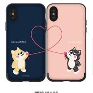 韓國代購 預購 韓製插畫家SHIRO&MARO柴犬公仔手機殼