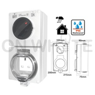 Waterproof/Weatherproof Switch Socket Outlet 13A Isolator iP66 CSC313 OUTDOOR/EUROSAFE/OPS/SCHNEIDER/HAGER/DLX/MAXVI/ERA