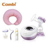 Combi 自然吸韻電動吸乳器 Light 加哺乳靠墊 贈手動配件組、標準玻璃奶瓶