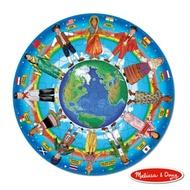 美國瑪莉莎 Melissa & Doug 大型地板拼圖地球村的孩子48 片