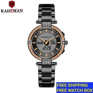 KADEMAN Original Watch Women Casual Waterproof Calender Womens Watch Jam tangan perempuan K9080