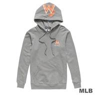 MLB-邁阿密馬林魚隊LOGO印花連帽厚T恤-麻灰 (男)