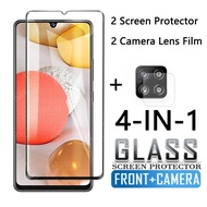 4 in1 Tempered glass for Samsung Galaxy A42 5G screen and camera protector for samsung A42 5g tempered glass protective film